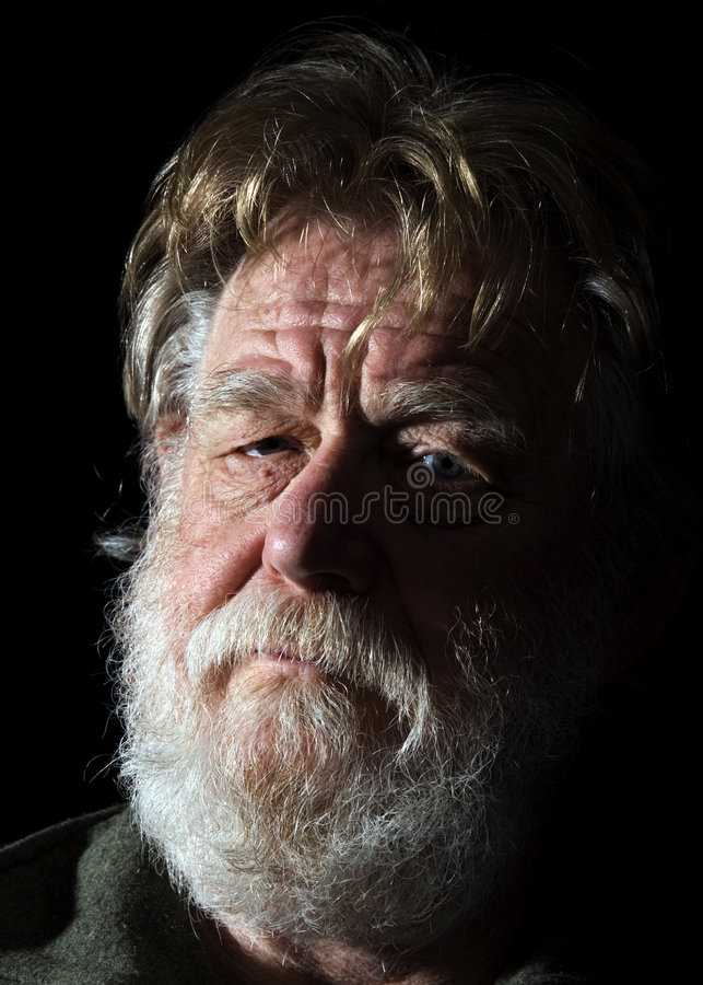 Old man 1 stock photography