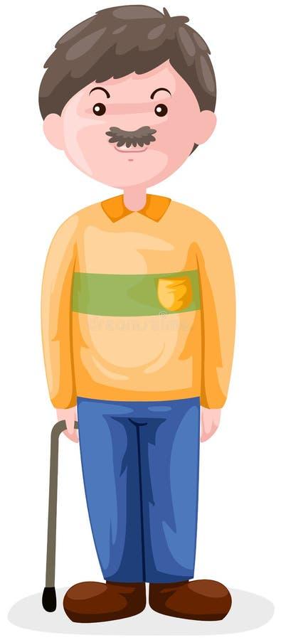 Old man stock illustration
