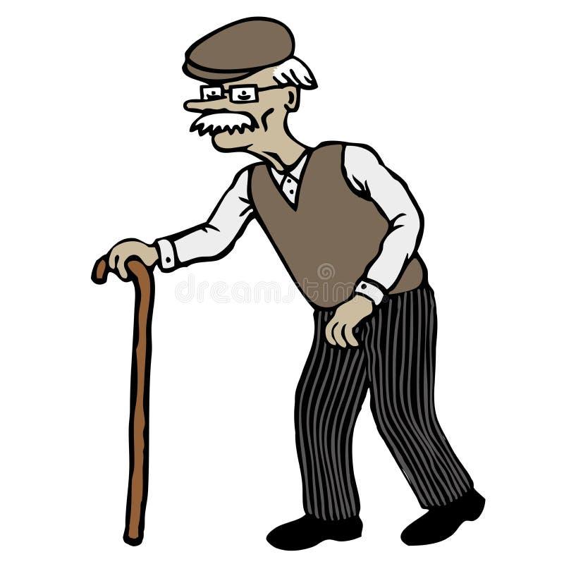 Old Man royalty free illustration