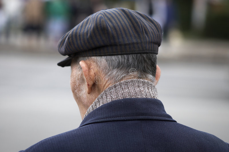 Download Old man stock image. Image of back, people, street, flabby - 883313