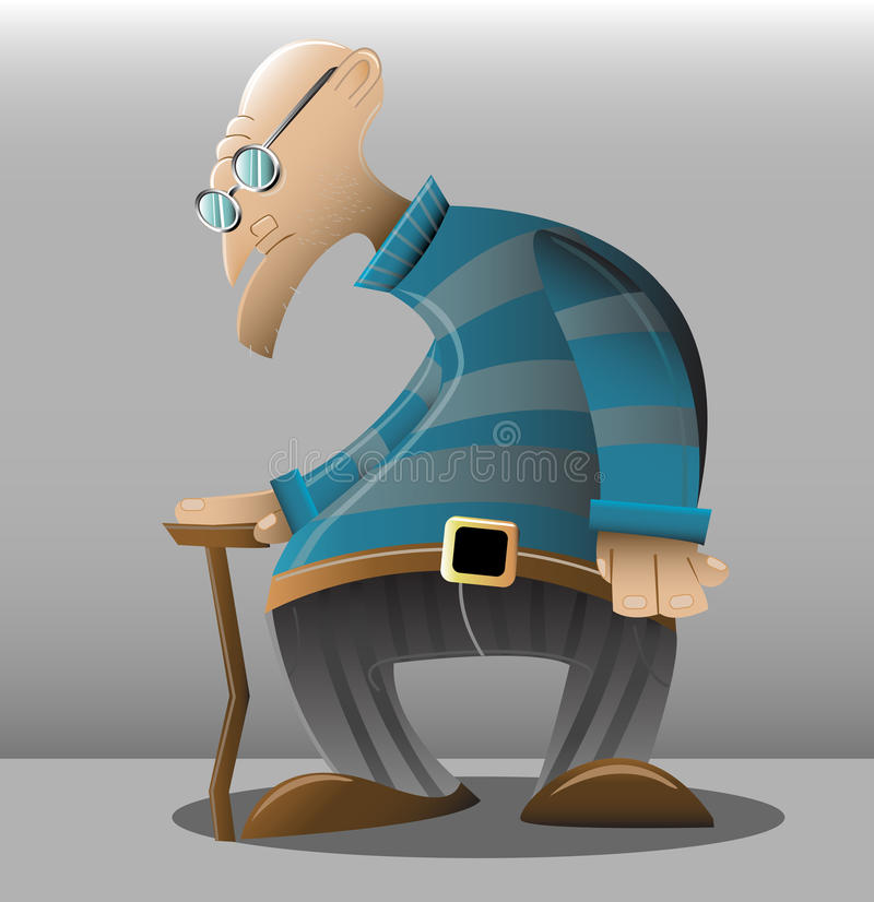 Old_man illustration stock