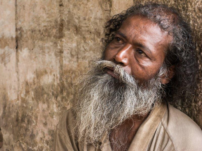 Old man begging. stock images
