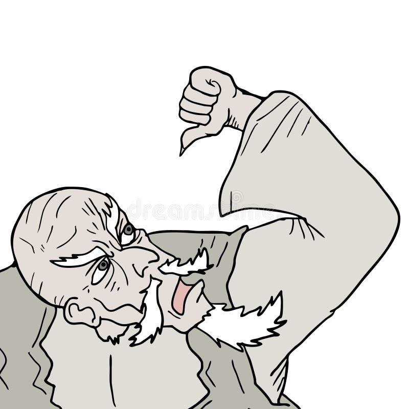 Download Old man draw stock vector. Illustration of corner, doll - 38452225