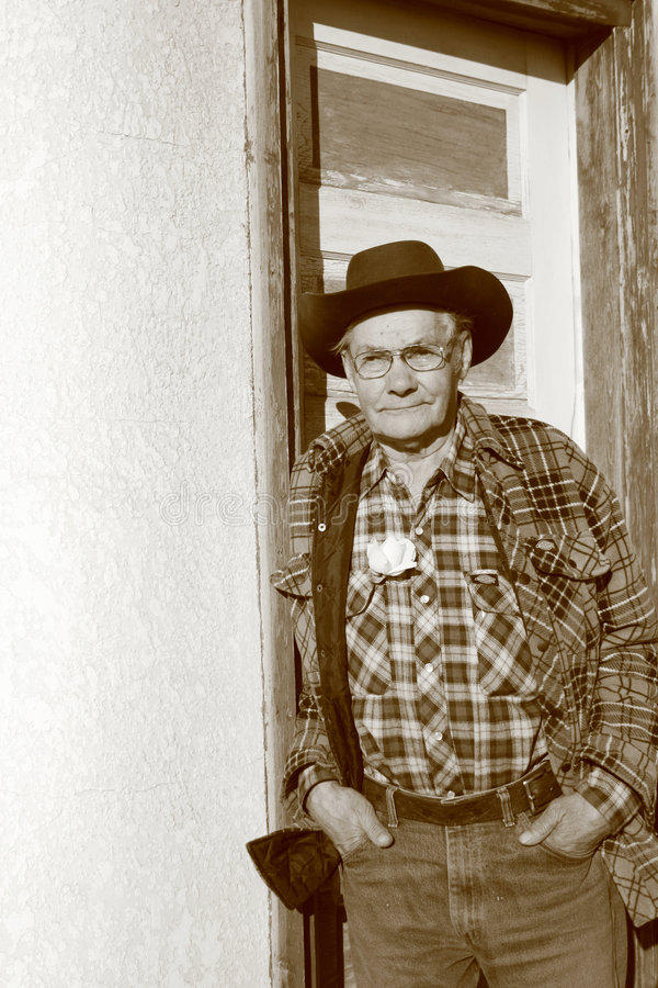 Old Man Farmer stock image