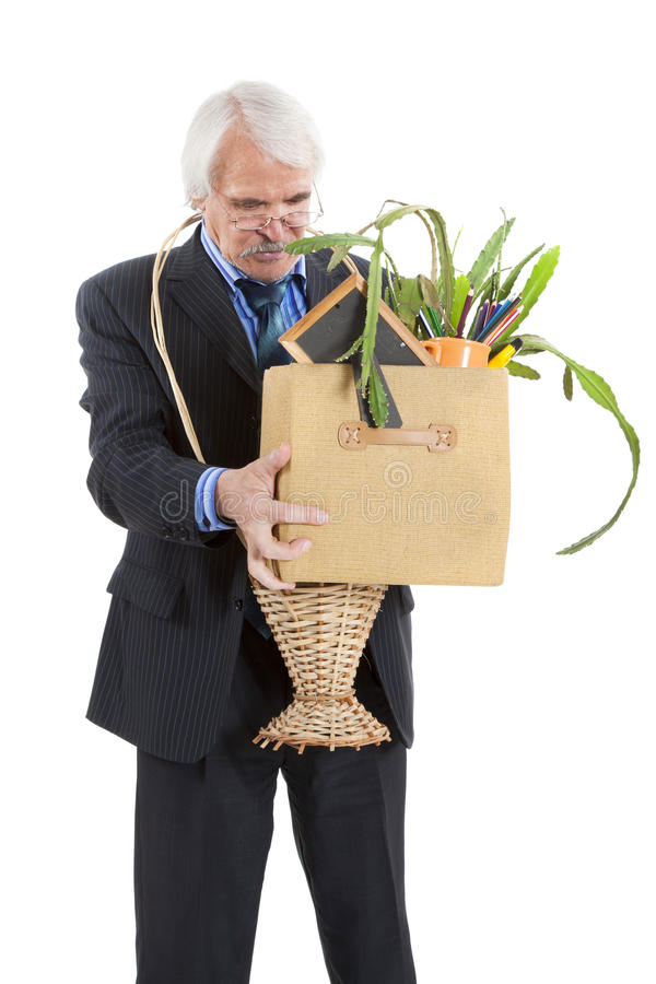 Download The old man fired stock photo. Image of failure, frustrated - 32265968