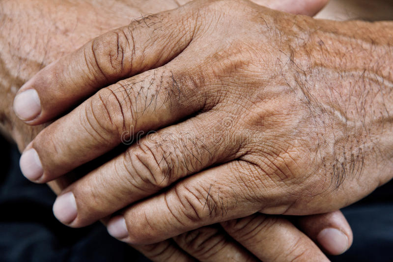 Old man hand. Close up of old man hand royalty free stock photos