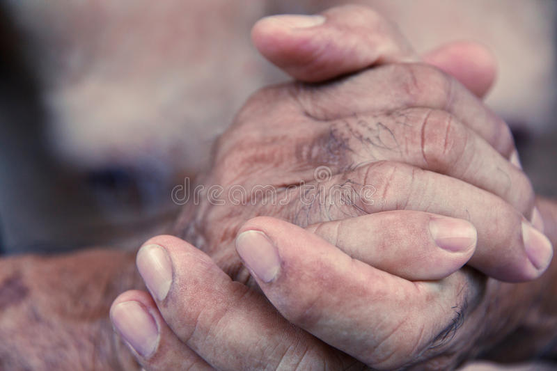 Old man hand. Close up image of old man hand royalty free stock photos