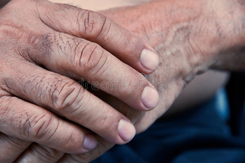 Old man hand royalty free stock photography