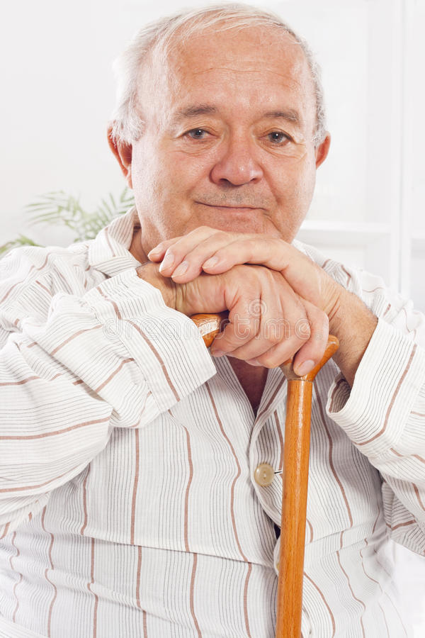Free Old Man In Hospital Royalty Free Stock Photography - 28221807