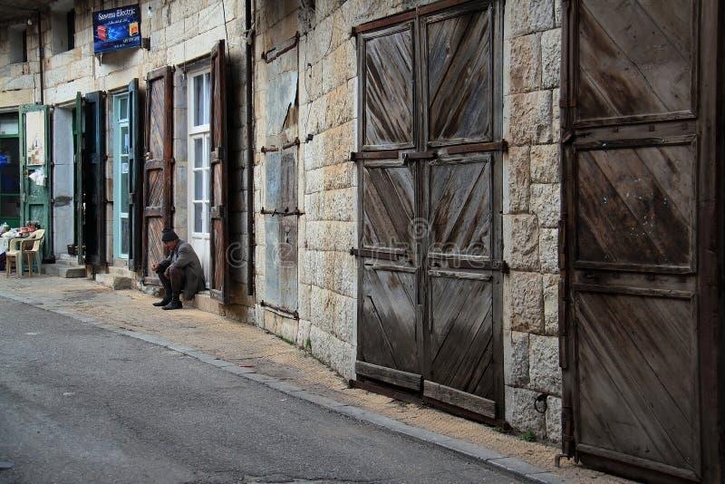 Old Man in Lebanese Village stock photos