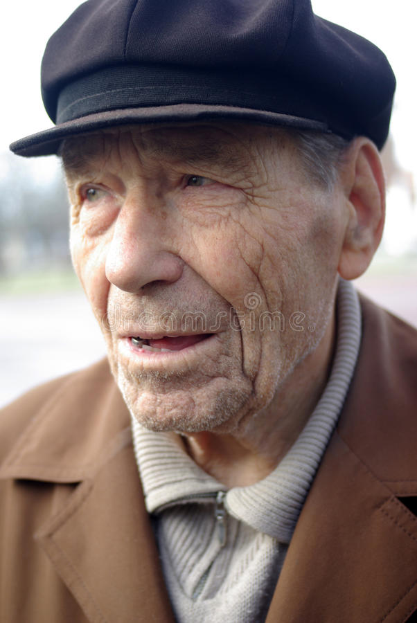 Download Old man portrait stock photo. Image of male, friends - 12242538
