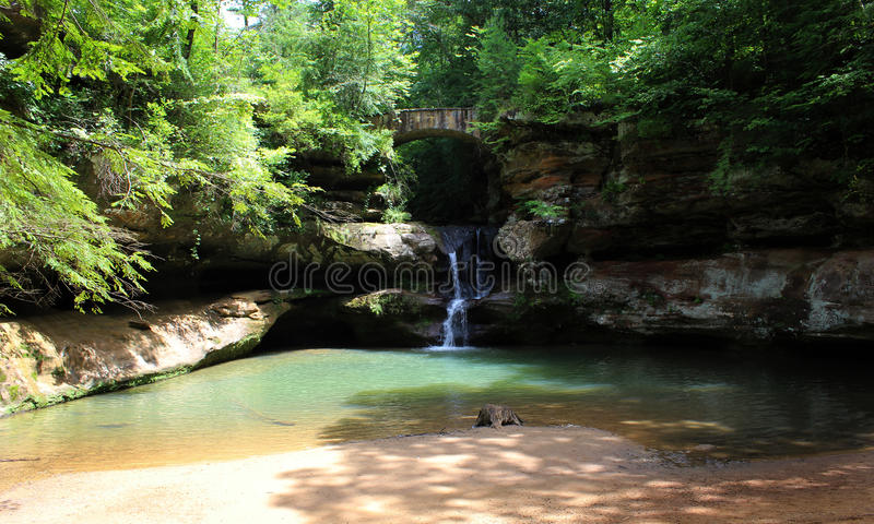 Old Man's Cave Upper Falls stock photography