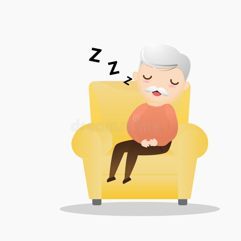 Free Old Man Sleeping Concept. Stock Images - 150635984