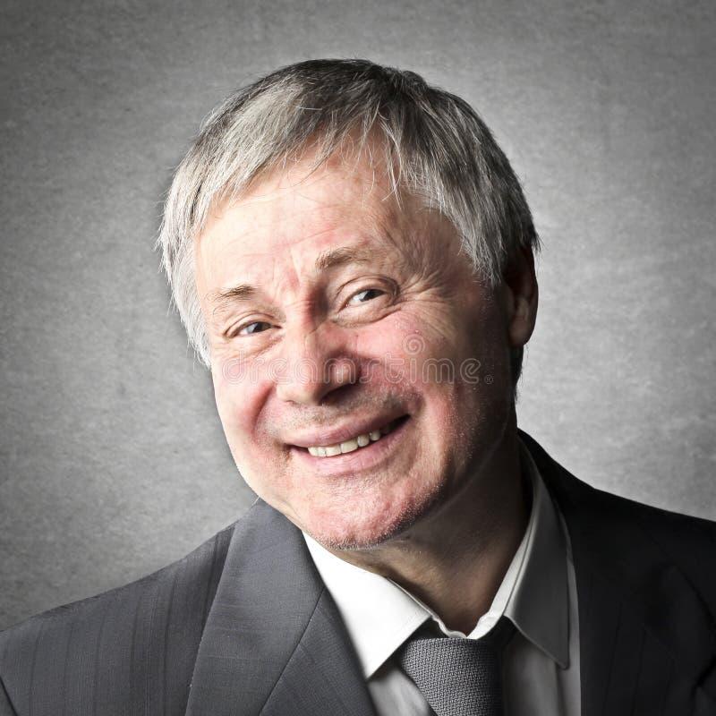 Old Man Smile stock photos