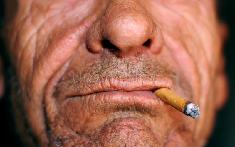 Download Old man smoking stock photo. Image of death, medicine - 2983872
