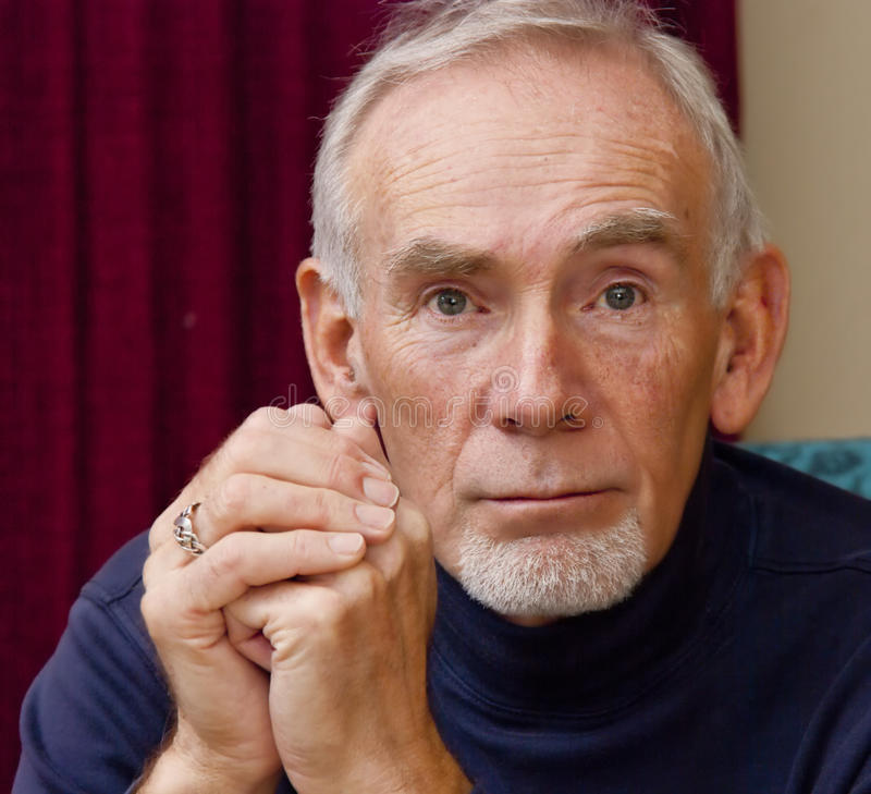 Download Old Man Staring Straight Ahead. Stock Image - Image: 13363655