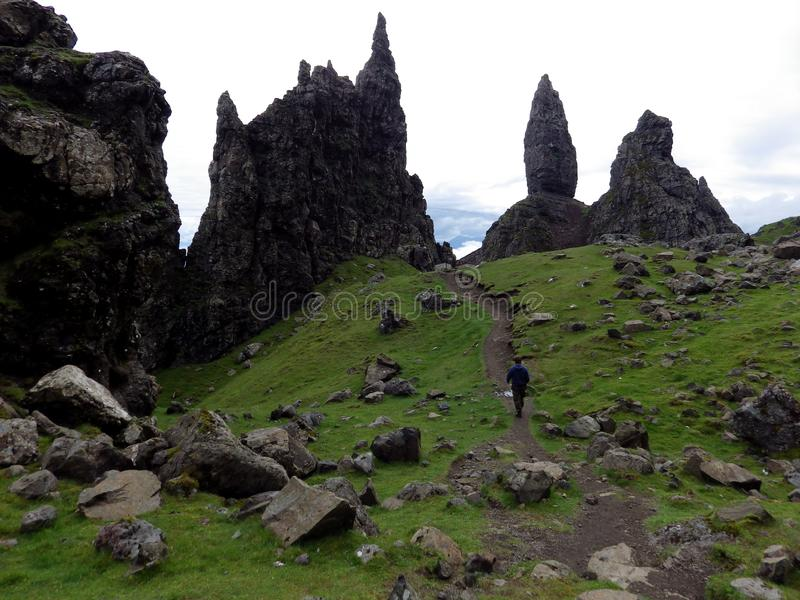 Old man of Storr, Isle of Skye. Rock formation, Old man of Storr, Isle of Skye, Scotland royalty free stock photo