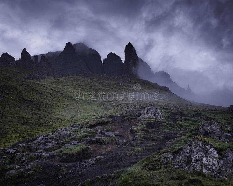 Old Man of Storr, Isle of Skye, Scotland royalty free stock image