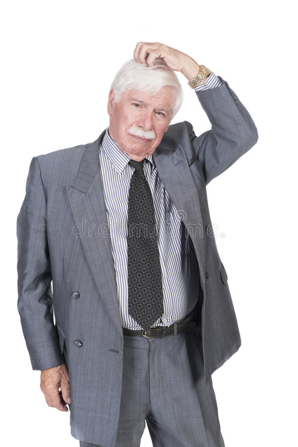 Old man in suit and gray hair thinking stock image image of download old man in suit and gray hair thinking stock image image of breasted publicscrutiny Images