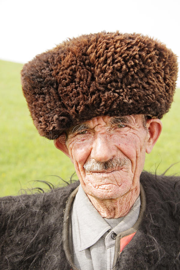 Old man in traditional clothes royalty free stock photos
