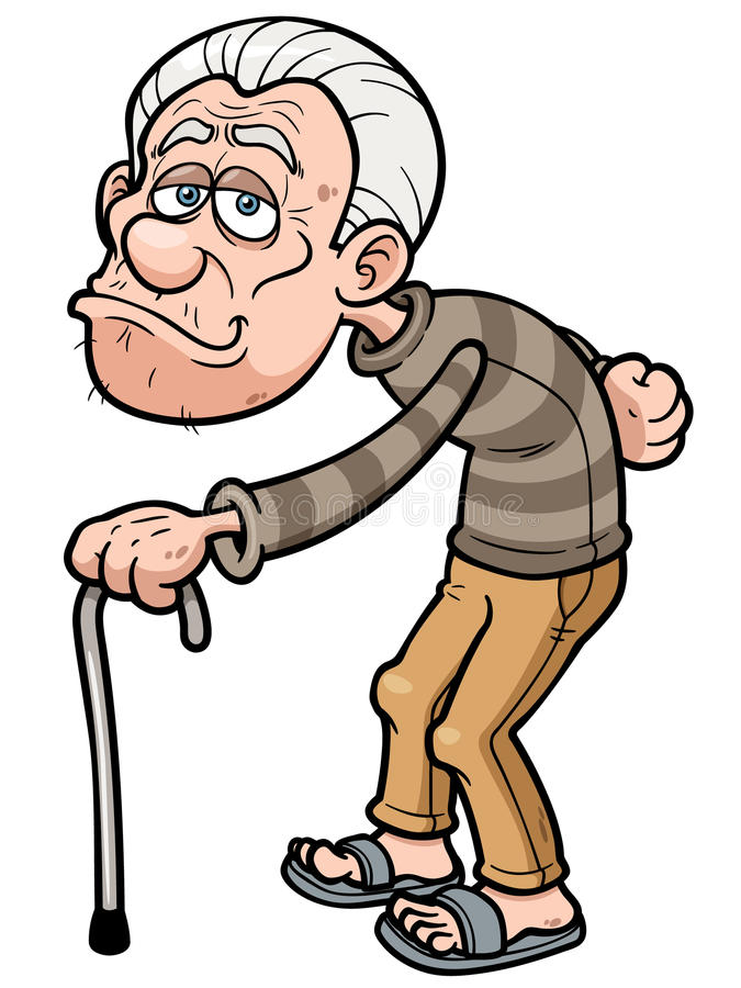 old man stock vector illustration of male greybeard 40037446 rh dreamstime com old person cartoon image old person cartoon drawing