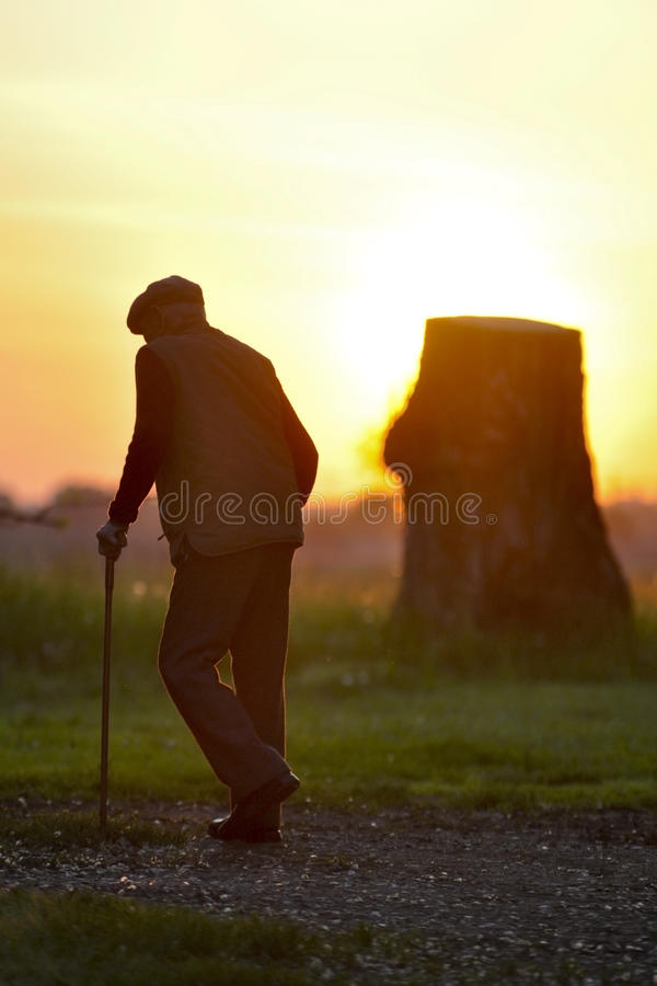 Download Old man walking stock image. Image of mature, outdoorsman - 9447737