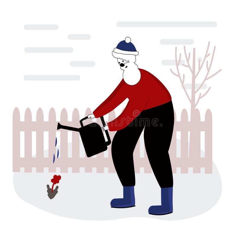 EPS Illustration - Man and garden cartoon. Vector Clipart gg105586030 -  GoGraph