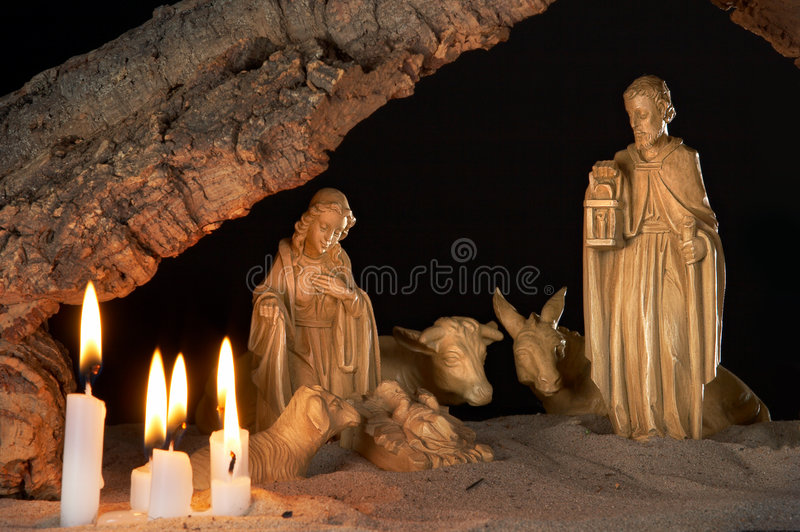 Old manger royalty free stock image