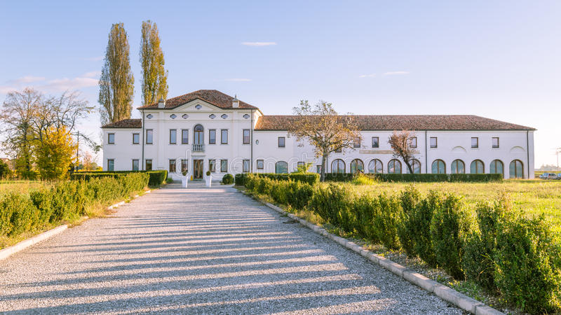 Old manor coutryside of Veneto in Italy. Old manor in the coutryside of Veneto in Italy royalty free stock image