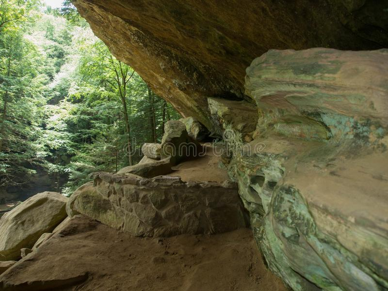 Old Mans Cave Walkway royalty free stock images