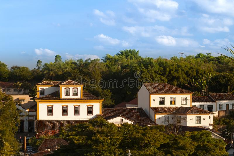 Old mansions from the time of colonization in Tiradentes, Minas Gerais, Brazil. N royalty free stock photo