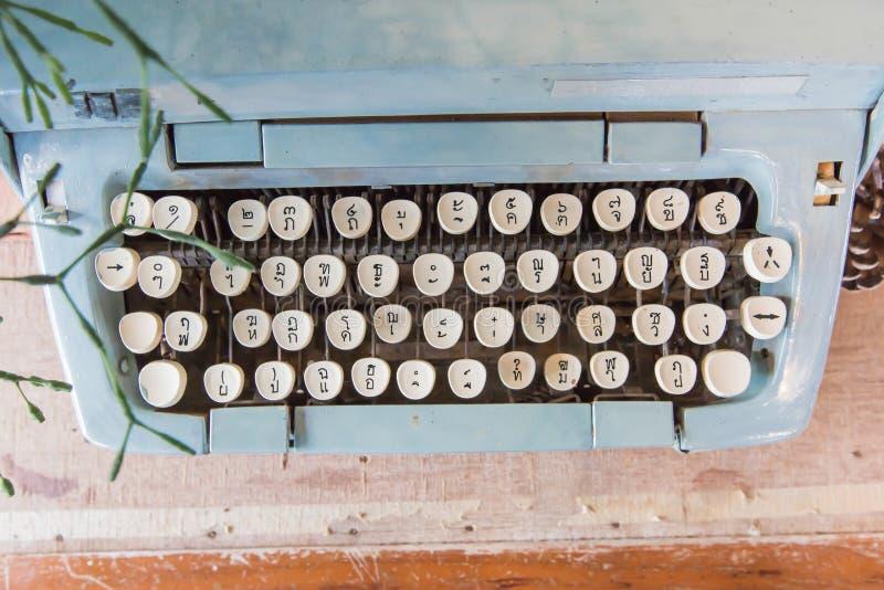 Old Manual Typewriter keys in Thai Language. stock photos