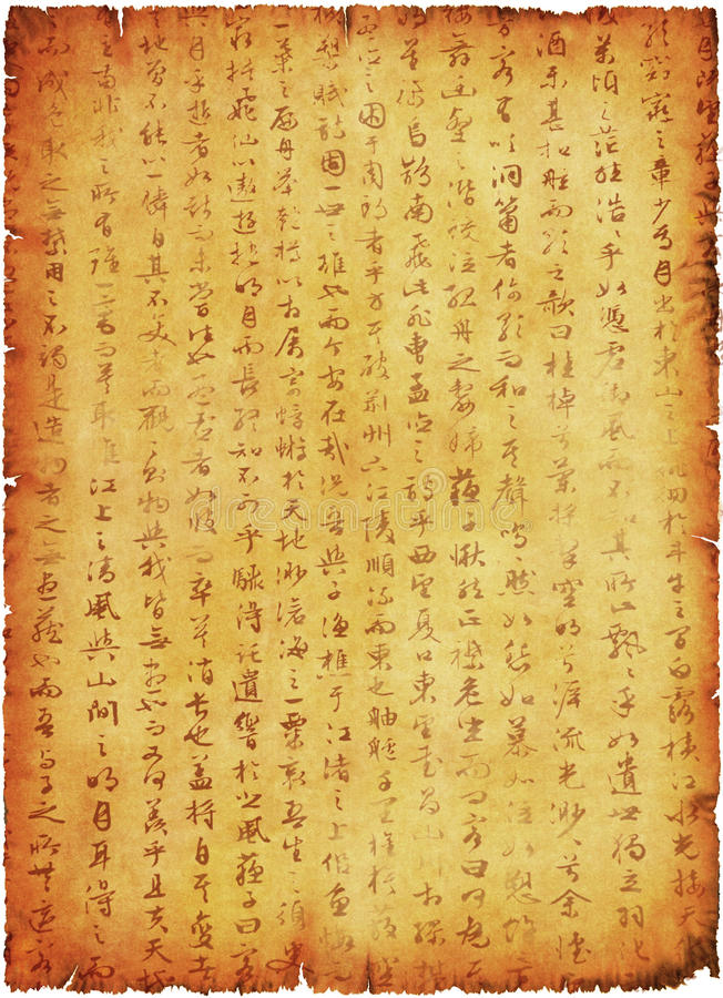 Old Manuscript Stock Photography