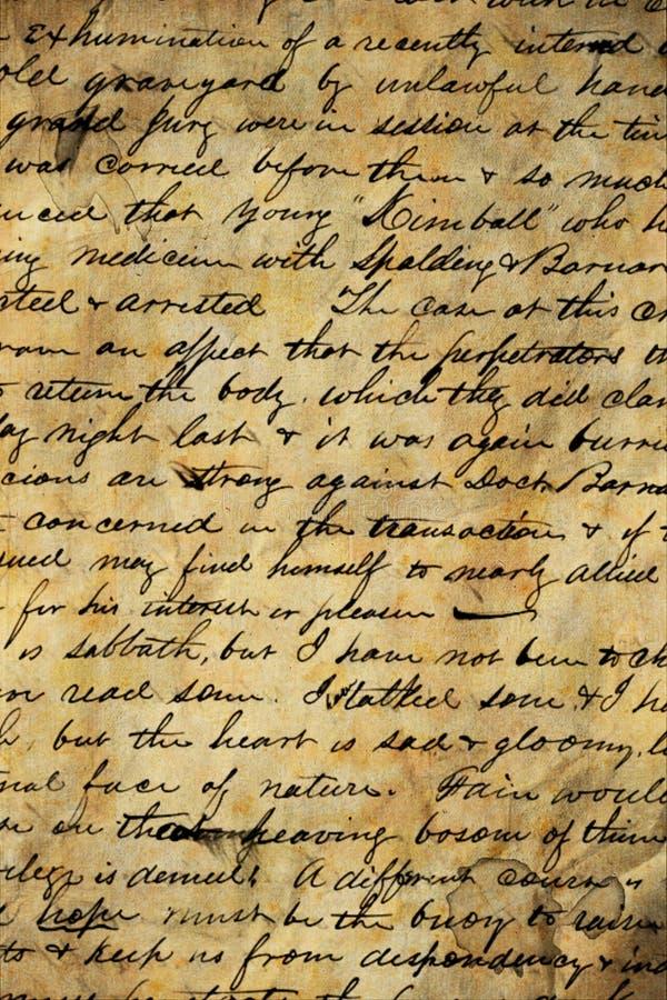 Download Old manuscript stock image. Image of letter, detail, hand - 17682083