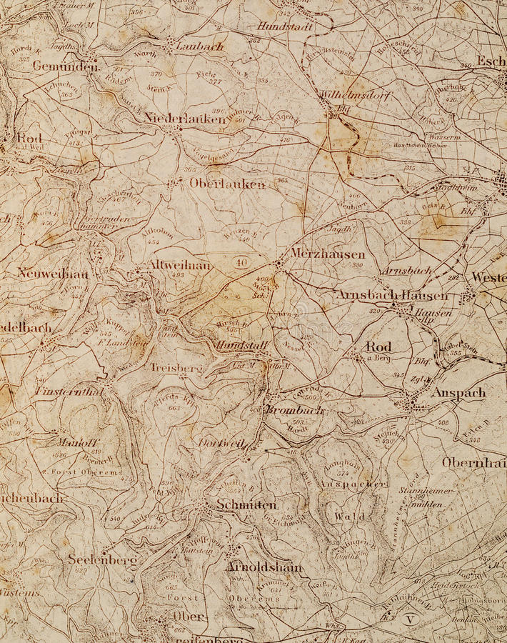 Download Old map stock photo. Image of past, germany, area, bygone - 17177402