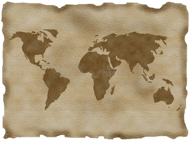 Old map royalty free illustration