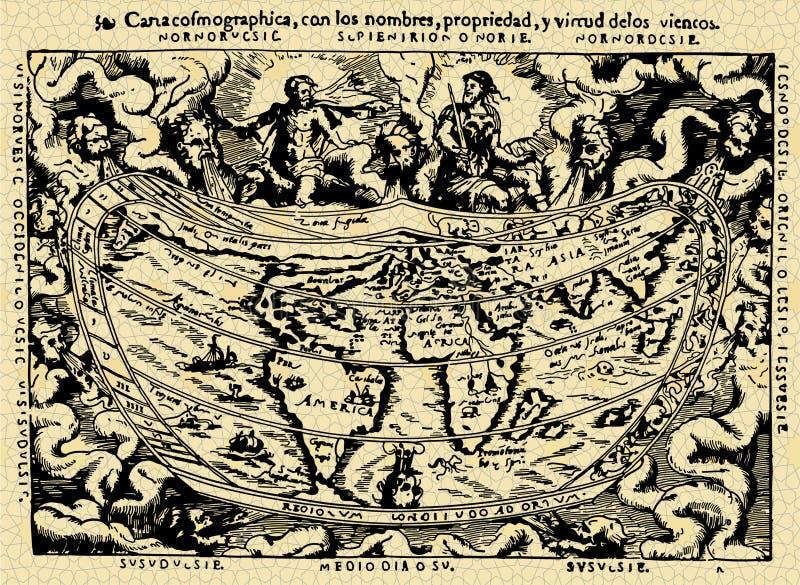 Old map stock illustration