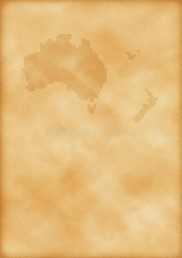 Download Old Map Of Australia And New Zealand Stock Image - Image: 7250289