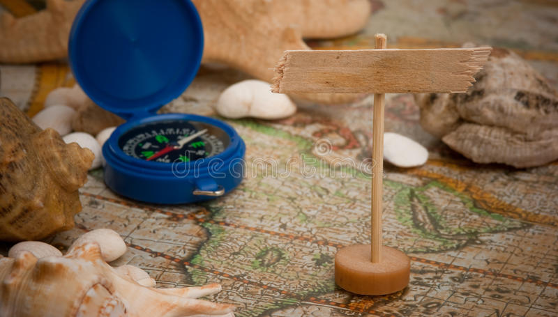 Download Old map and compass stock photo. Image of measurement - 24221582