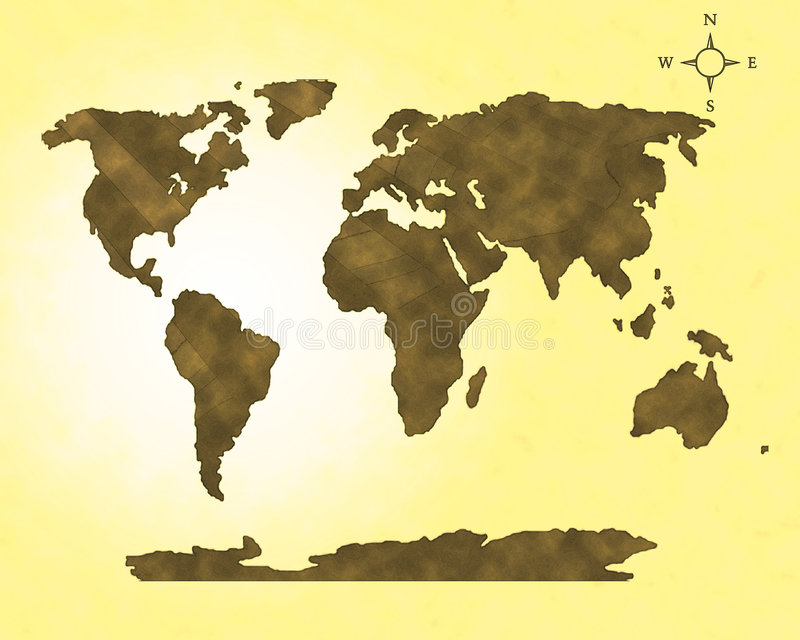 Download Old Map Digital Effect High Resolution Stock Illustration - Image: 4579371