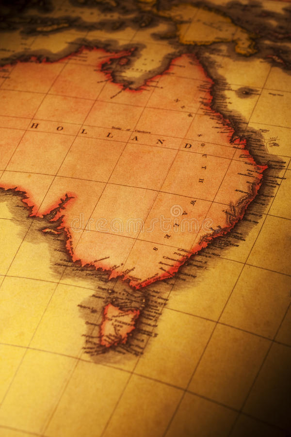 Download Old Map Of East And North Australia Stock Photo - Image: 25395530