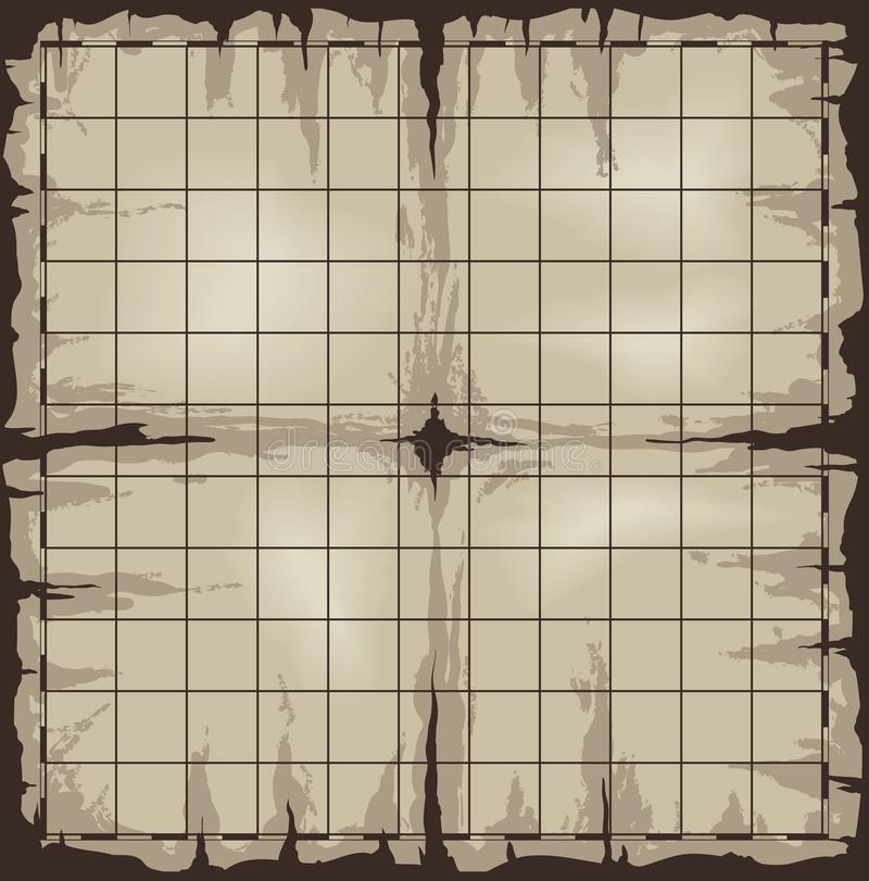Download Old map with grid stock vector. Image of empty, grid - 25257865