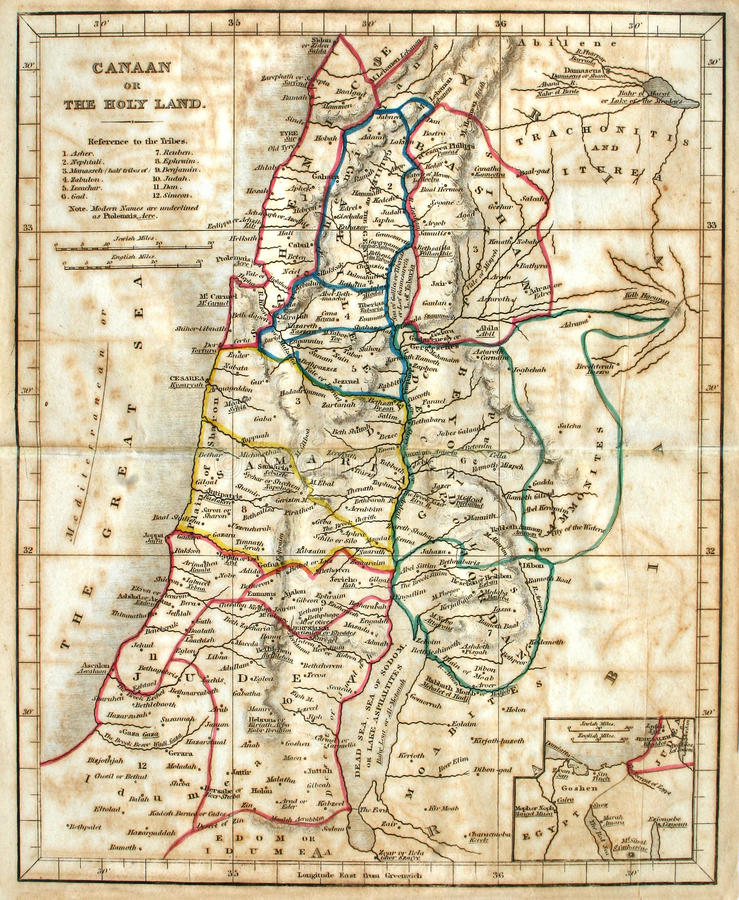 Download Old Map of the Holy Land. stock image. Image of history - 11777717
