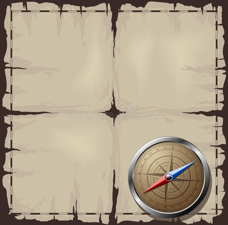 Download Old Map With Steel Compass Stock Photos - Image: 20626983