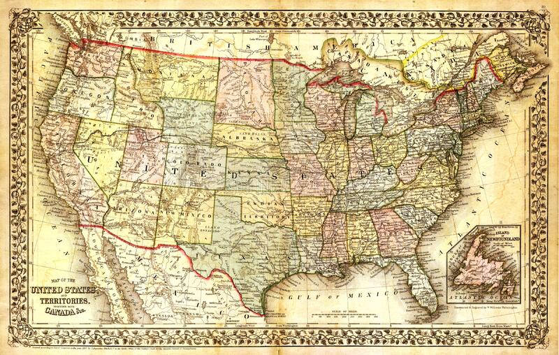 Free Public Domain CC Image Old Map Of USA Picture Image - Atlas of usa