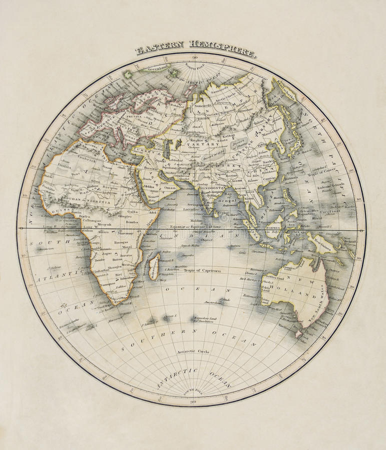 Download Old Map Of The World Royalty Free Stock Photography - Image: 13850147
