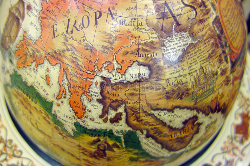 Download Old Map Of The World On The Globe Stock Image - Image of world, europe: 46920707