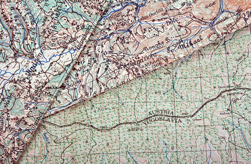 Download Old maps stock photo. Image of retro, yougoslavia, border - 23294312