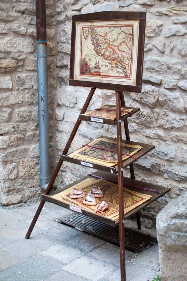 Old maps of split, Croatia royalty free stock photo