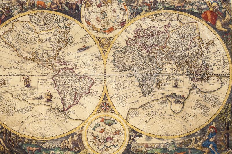 The old maps stock photos